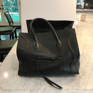 Luggage Cabas Phantom grained large leather tote